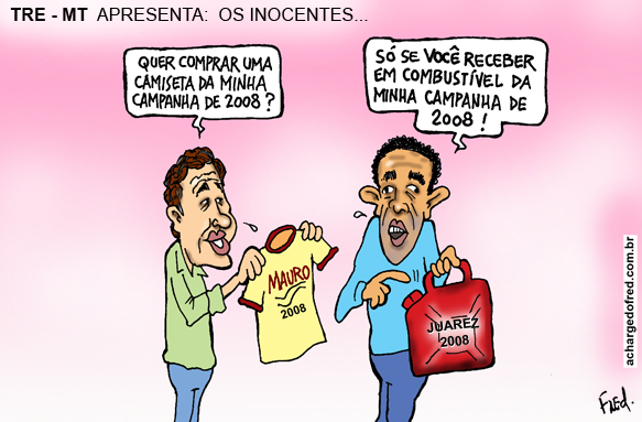 Charge publicada no Diário de Cuiabá em 28 de junho de 2012