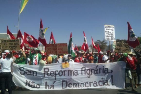 Protesto contra o governo Temer pede novas eleições