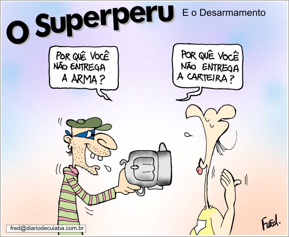Charge publicada no Diário de Cuiabá em 9 de julho de 2000