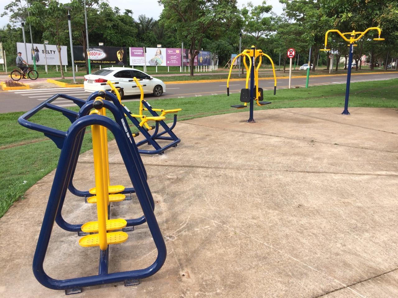 Parceria público privada assegura 3 academias ao livre para a comunidade