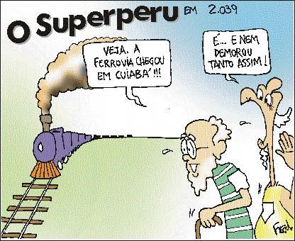 Charge publicada no Diário de Cuiabá em 8 de agosto de 1999