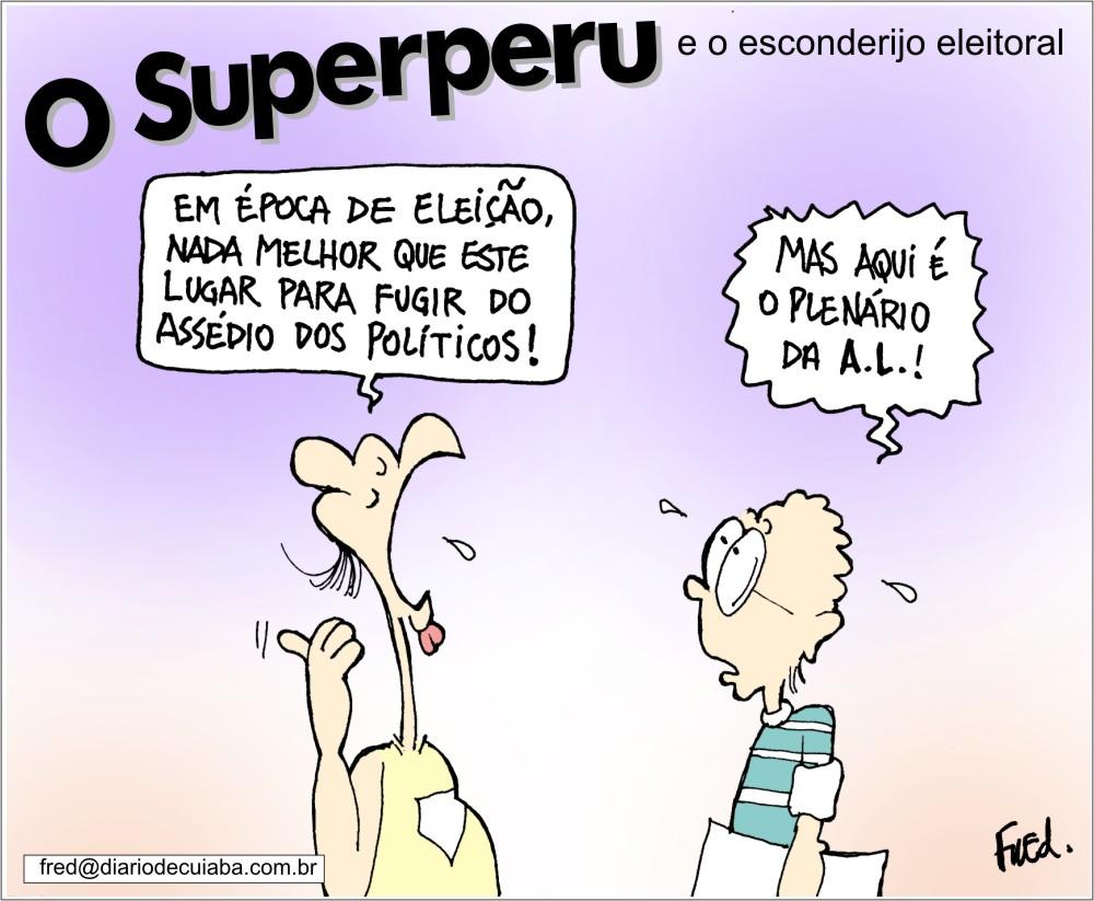 Charge publicada no Diário de Cuiabá em 5 de agosto de 2002
