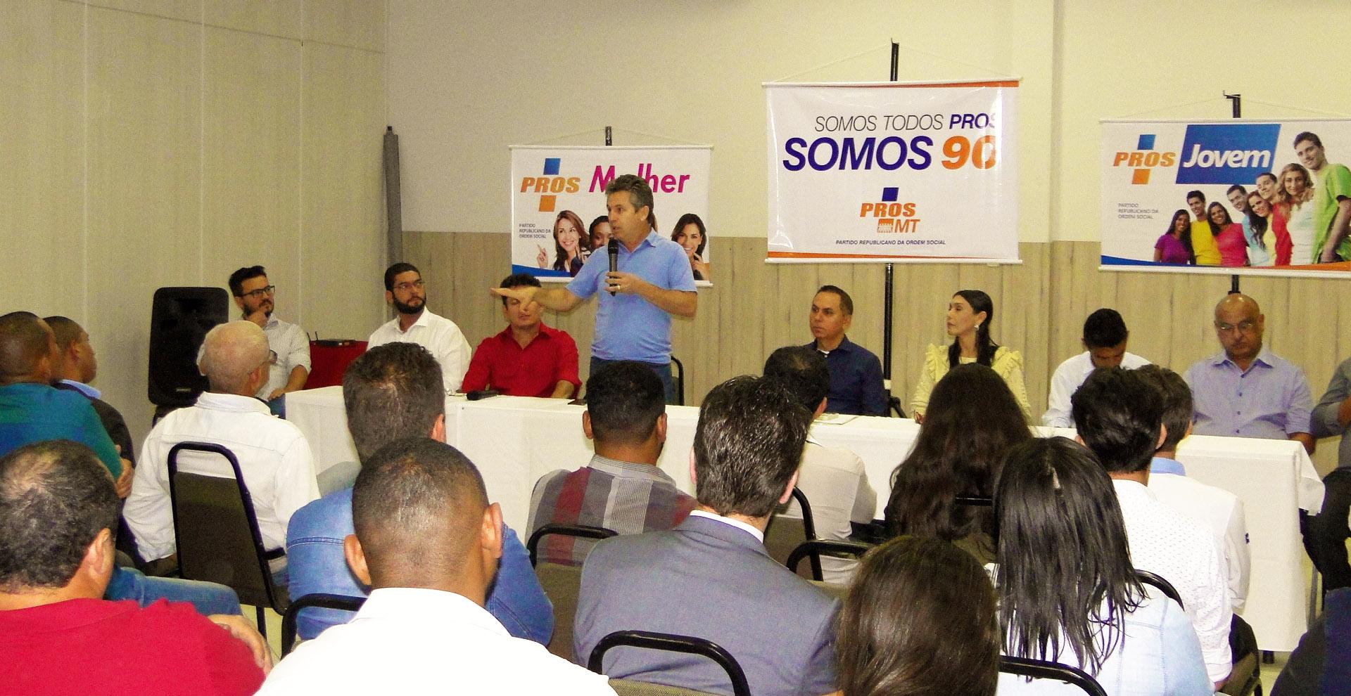 Em reunião com PROS, Mendes diz que dívidas da gestão Taques ultrapassam R$ 3 bi