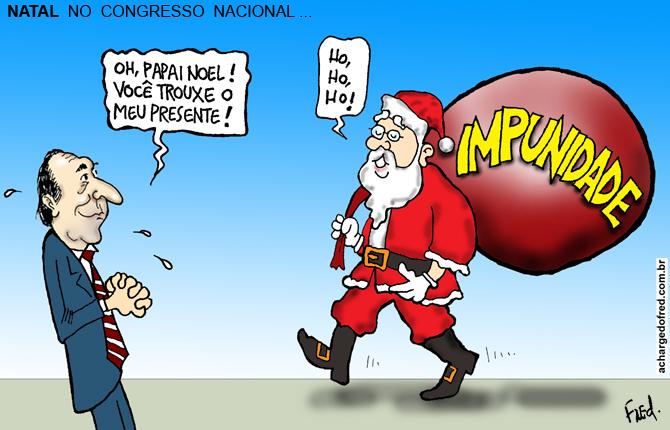Natal em Charges! Charge publicada no Midianews em 5 de dezembro de 2012