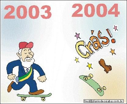 charge publicada no Diário de Cuiabá em 31 de dezembro de 2003