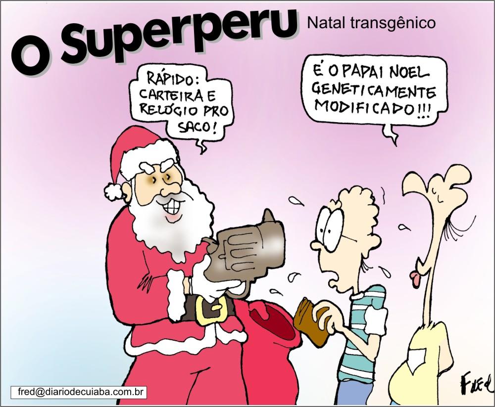 Natal em Charges! Charge publicada no DC em 13 de dezembro de 2001