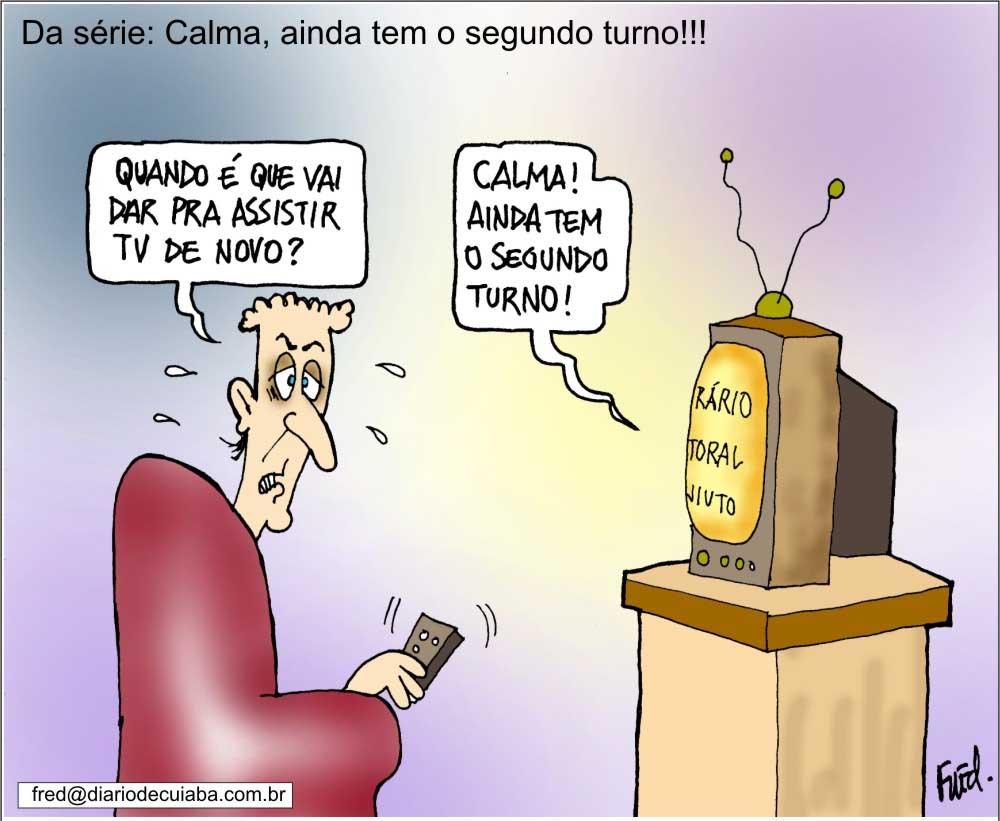 Charge publicada no Diário de Cuiabá em 7 de outubro de 2000