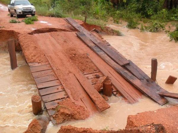 Prefeitura de Tabaporã decreta situação de emergência; 16 pontes destruídas
