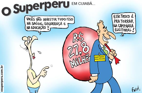 Charge publicada no Diário de Cuiabá em 6 de julho de 2012