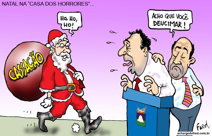 Natal em Charges! Charge publicada no Midianews em 10 de dezembro de 2011