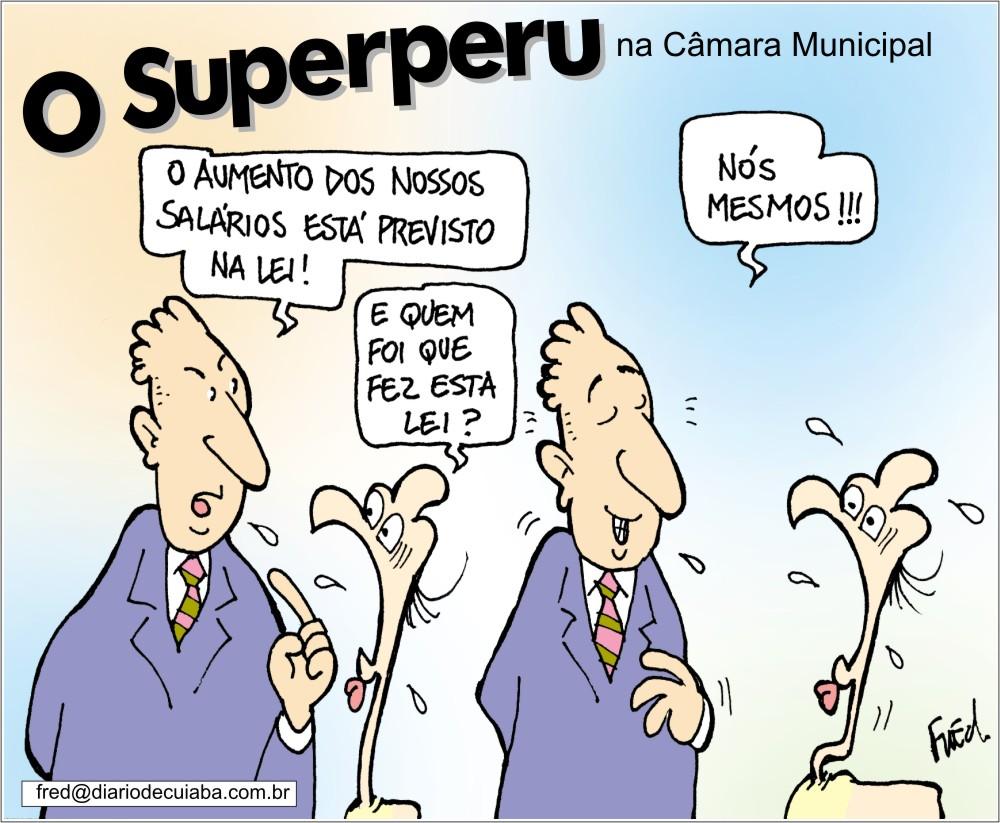 Charge publicada no Diário de Cuiabá em 29 de novembro de 2003