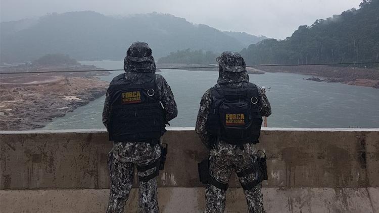 Força Nacional inicia operação em usina hidrelétrica entre Mato Grosso e Pará