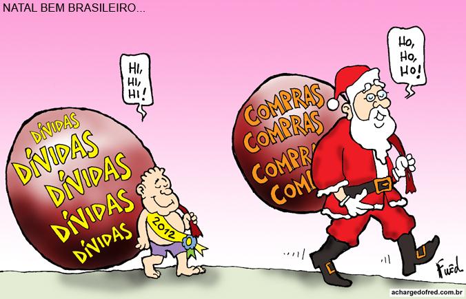 Natal em Charges! Charge publicada no Midianews em 22 de dezembro de 2011