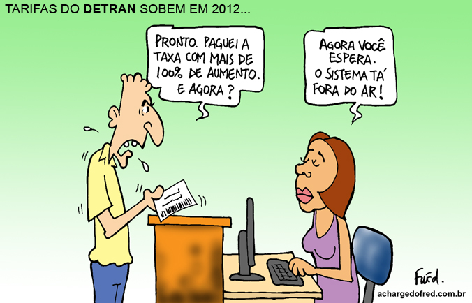 Charge publicada no Midianews em 14 de outubro de 2011