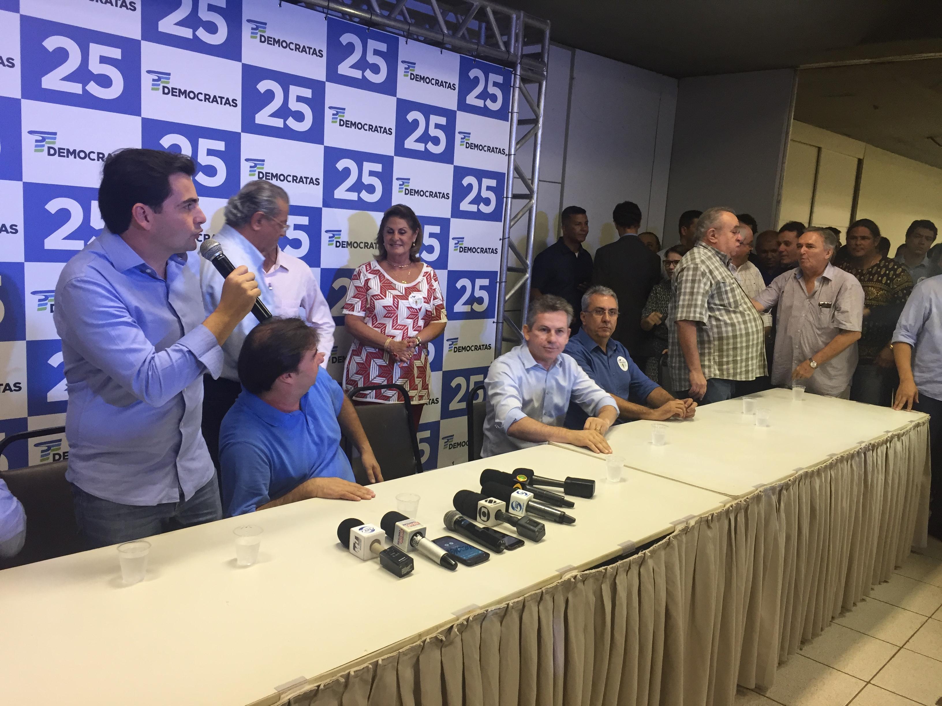"""Mauro Mendes reafirma alinhamento ao PDT e foca """"desafio"""" de unir PSD e PRB"""