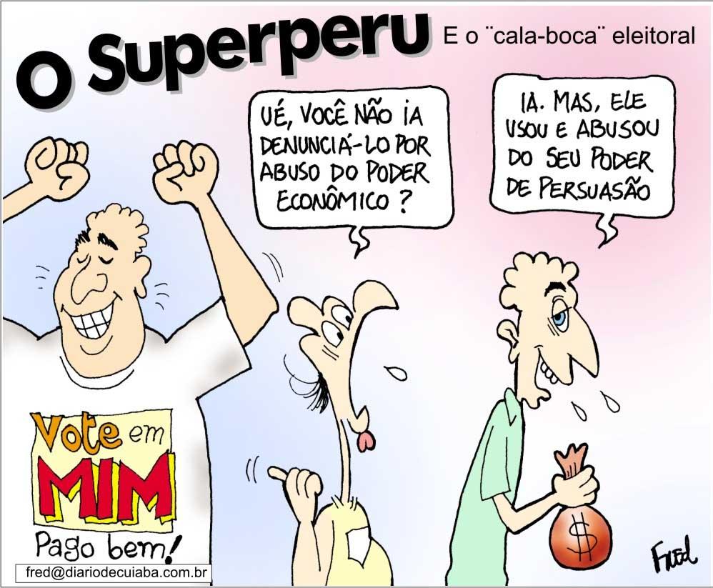 Charge publicada no Diário de Cuiabá em 6 de agosto de 2000