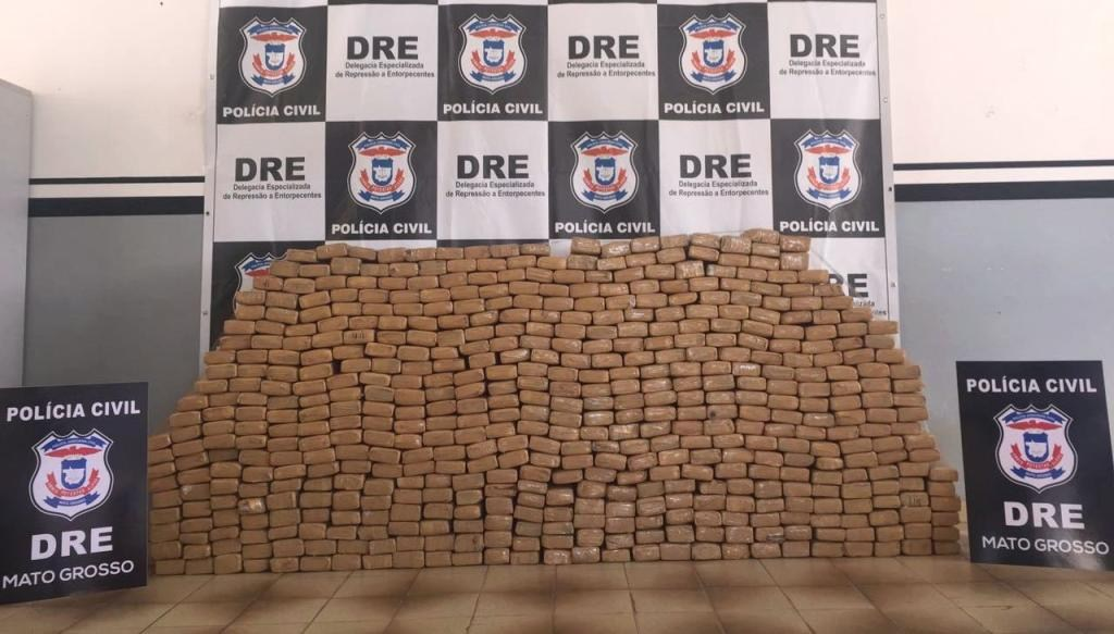 Polícia apreende 514 tabletes de maconha em estrada de Chapada