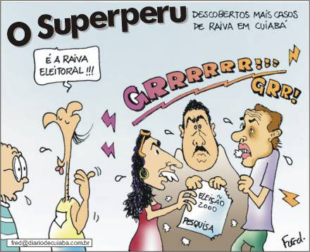Charge publicada no Diário de Cuiabá em 9 de junho de 2000