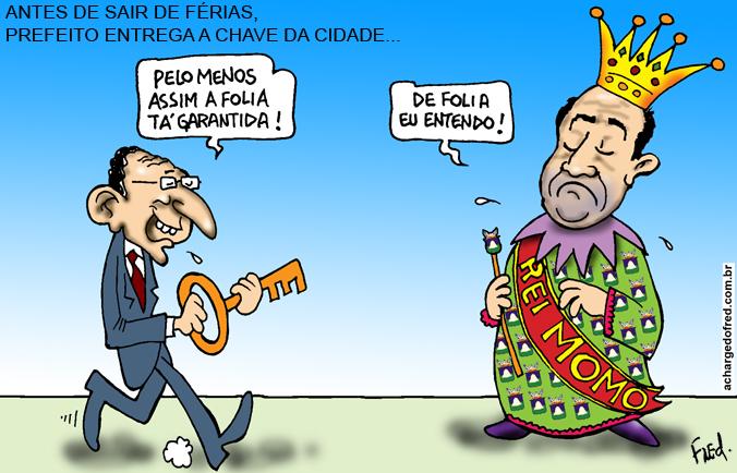 E viva o Carnaval! Charge publicada no Midianews em 13 de fevereiro de 2012