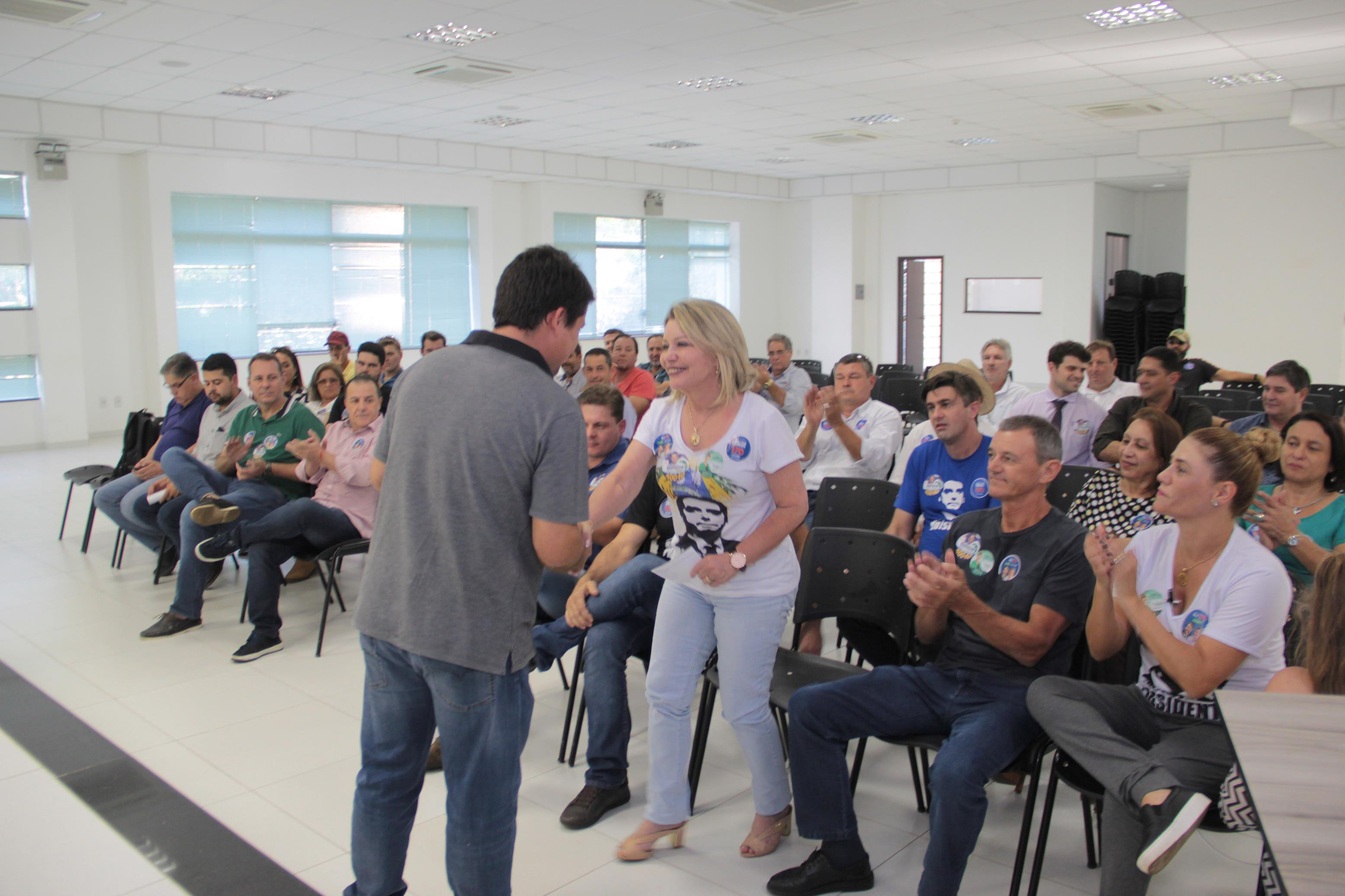 Selma Arruda confirma apoio de Neri Geller e Dilceu Rossato em Sorriso