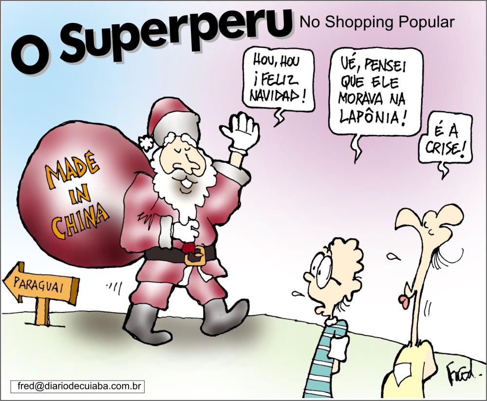 Natal em Charges! Charge publicada no DC em 23 de dezembro de 2000