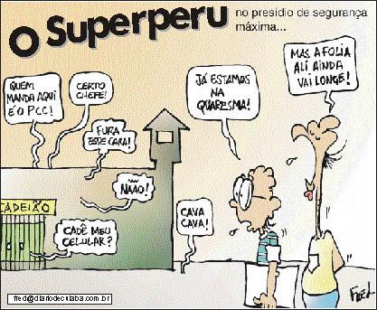 Charge publicada no Diário de Cuiabá em 1º de março de 2000