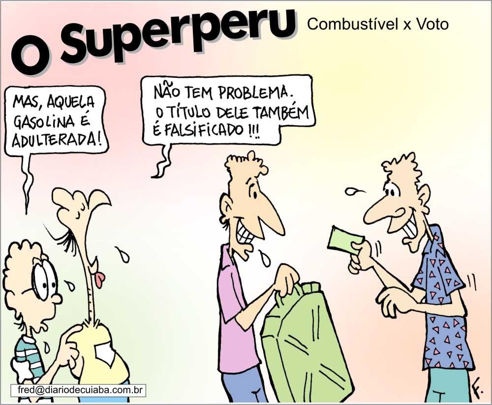Charge publicada no Diário de Cuiabá em 14 de agosto de 2000