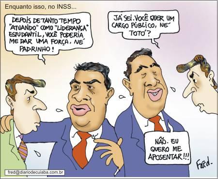 Charge publicada no Diário de Cuiabá em 28 maio de 2000