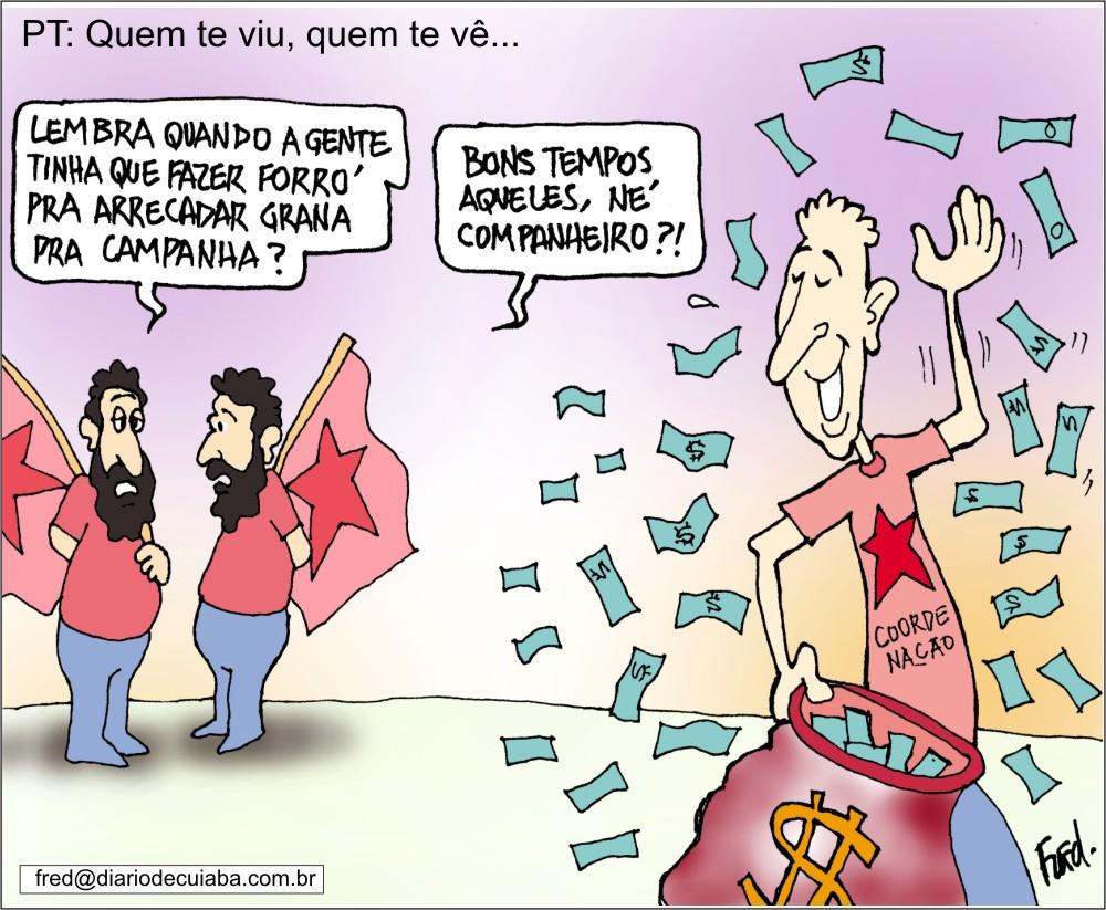 Charge publicada no Diário de Cuiabá em 21 de outubro de 2000